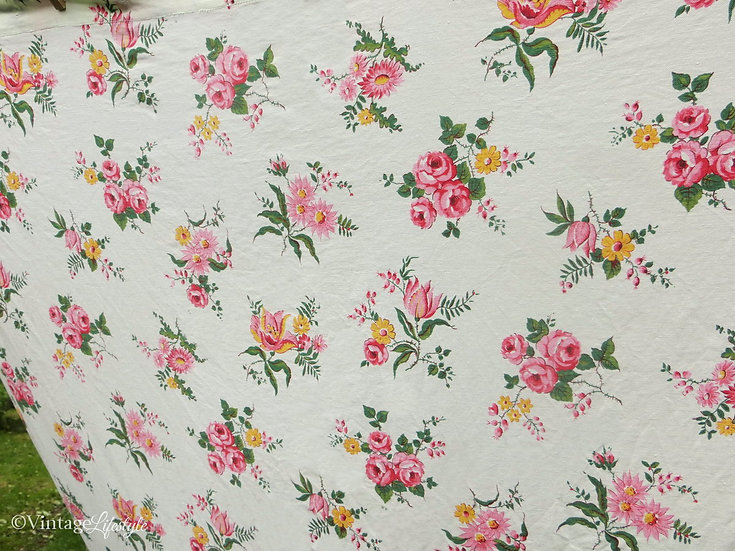 1940's French Floral Curtain