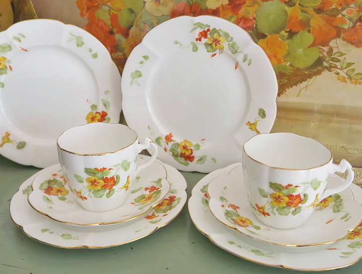 The Foley Nasturtium Trio's Saucers sandwich plates