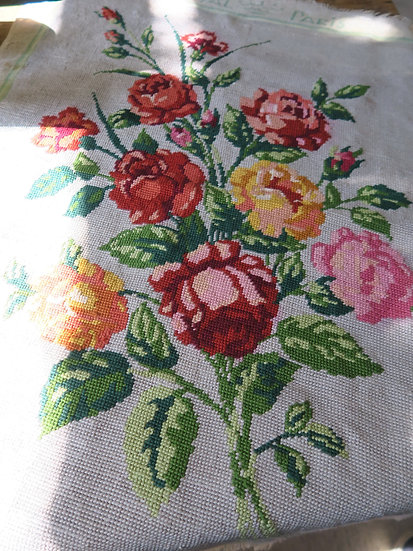 French needlepoint Roses