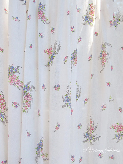 1930's french crepe lingerie fabric curtains