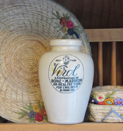 Virol bone marrow stoneware pot