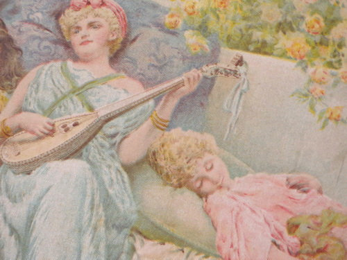 """The Lullaby"" Framed Print 1896 close up"