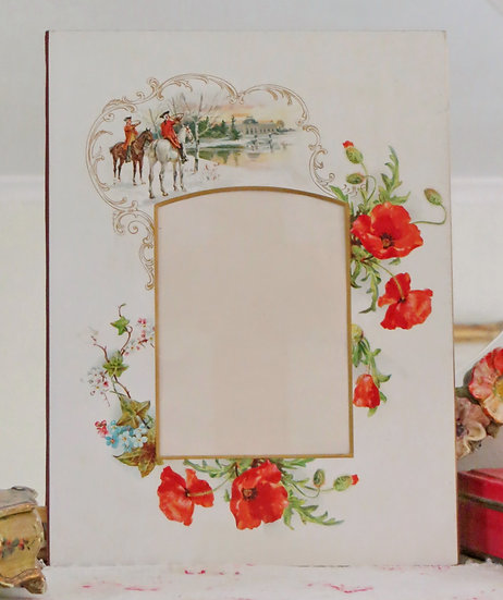 Poppies & Forget-Me-Not Photo Mount