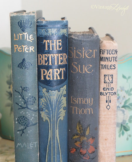 Decorative vintage Books spines