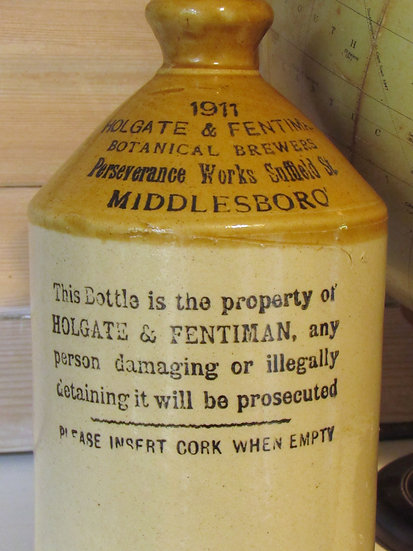 Holgate and Fentiman's antique Stoneware Flagon