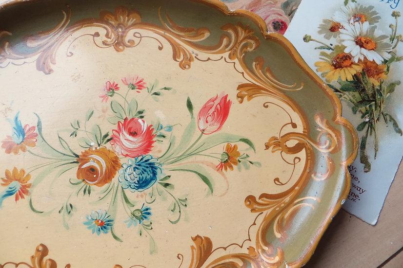 Small Painted Venetian Tray