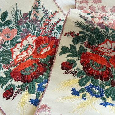 Antique French Woven Silk Border Sash