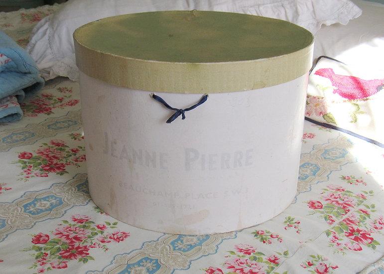 Jeanne Pierre vintage hat box