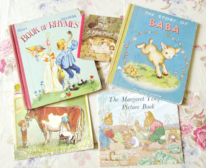 Collection of vintage childrens books Mable lucie attwell