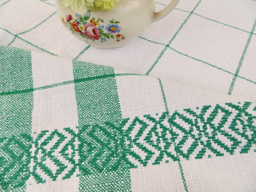 Woven Country Kitchen Tablecloth close up