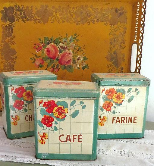 French Nasturtium Kitchen Tins