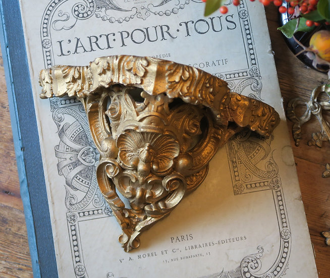 Antique French Gilt Shelf Corbel