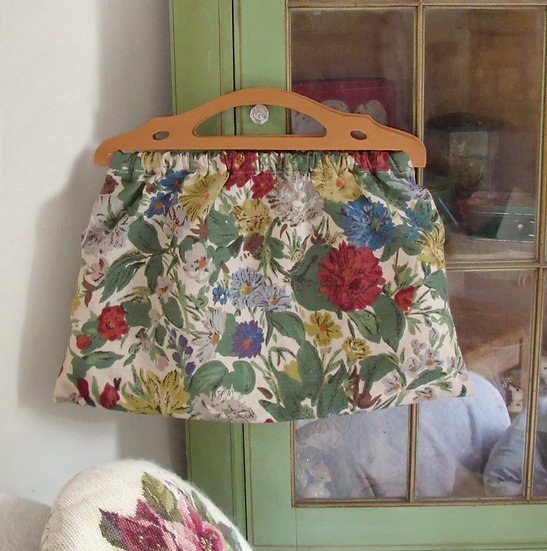 Vintage floral knitting bag