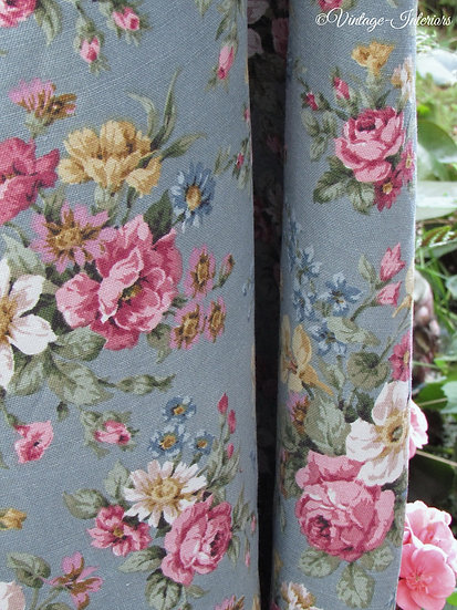 Heritage Marvell Floral Cotton Curtains