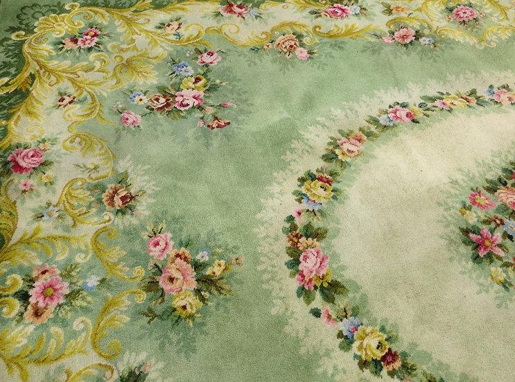 Grand Axminster Wool Floral Carpet