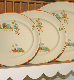 """Victorian"" Cottage Platters Set antique"