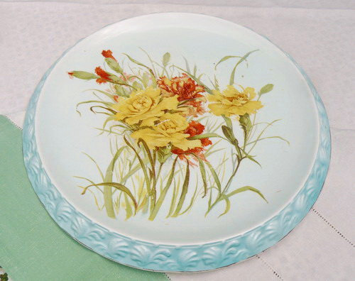 Large Victorian Cake Display plate antique