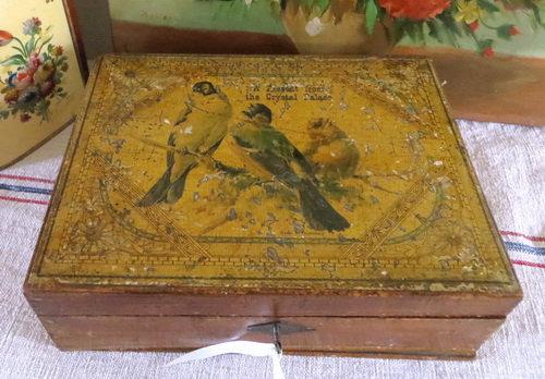 Antique Crystal Palace Keepsake Box