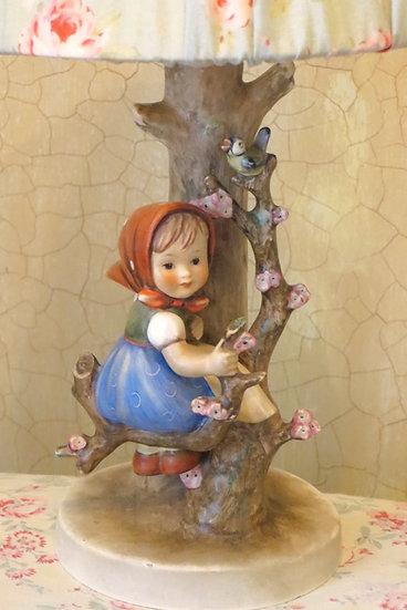 "Hummel ""Girl on Blossom Branch"" Lamp Front"