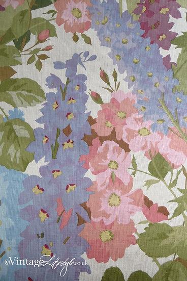 vintage Sanderson Floral Wallpaper Delphinium