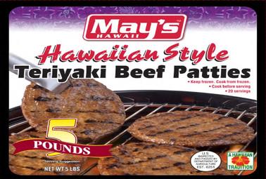 May's Hawaiian Style Teriyaki Beef Patties