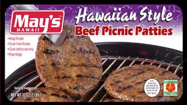 May's Hawaiian Style Beef Picnic Patties