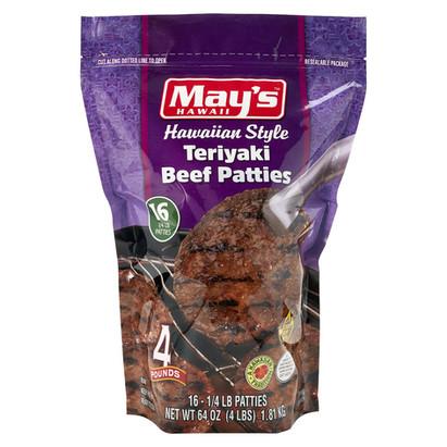 May's Hawaiian Style Beef Teriyaki Beef Patties