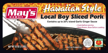 May's Hawaiian Style Local Boy Sliced Pork