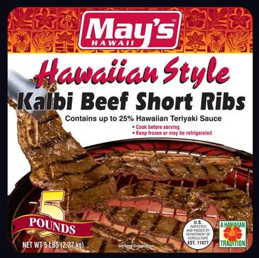 May's Hawaiian Style Kalbi Beef Short Ribs