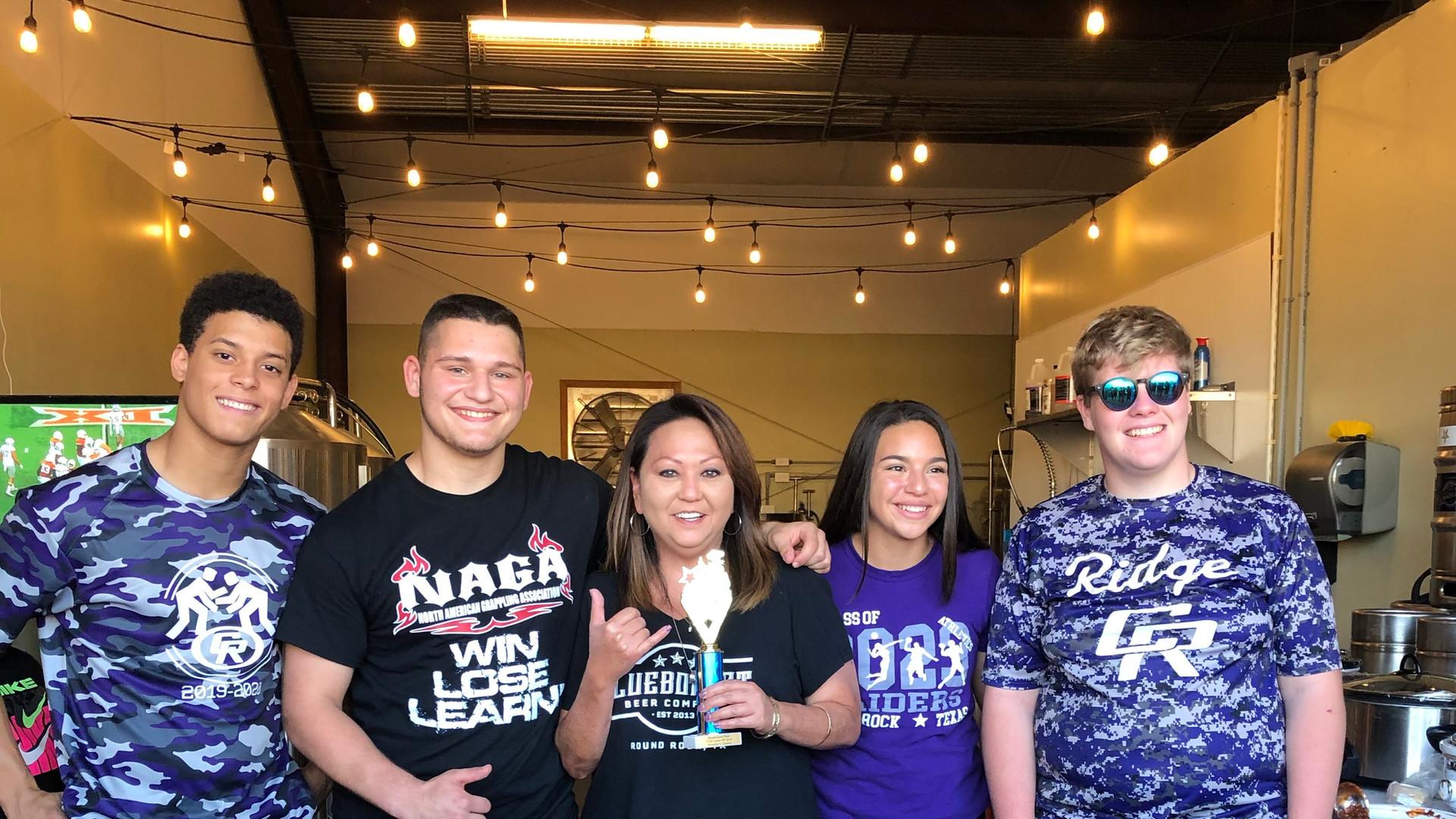 The Cedar Ridge High School Wrestling Team