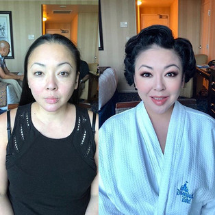 Lol She looks super fancy after the make
