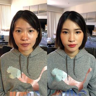 Japanese orange tone Asian style makeup
