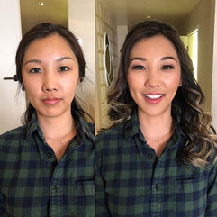 Korean glam makeup and hair by me ! Glad
