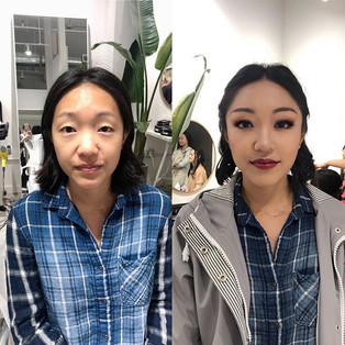 Smoke eye style makeup for small eyes _)