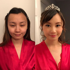 Before VS after!studio _aliciawumakeup #