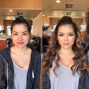 Double eyelashes +airbrush _Glam glam up