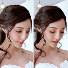 So beautiful! Bridal 😍 hair makeup by m