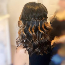Love the waterfall on her !! #hairstylis