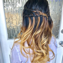 Double braids Water fall Hairstyle by me