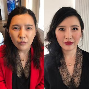 Work on Asian film festival 😍 makeup&ha