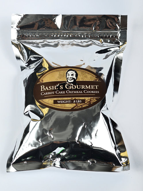 4 pack of Basils Gourmet Carrot Cake Oatmeal Cookie Mix