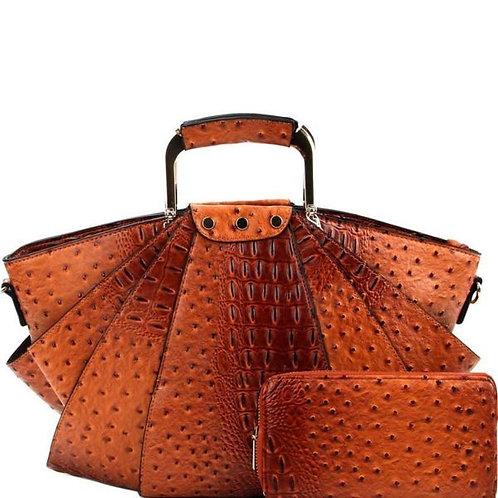 Ostrich Metal Handle Bag Set