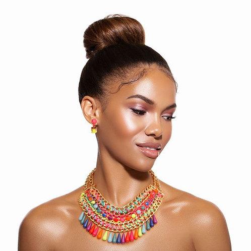 Rainbow Woven Collar Set