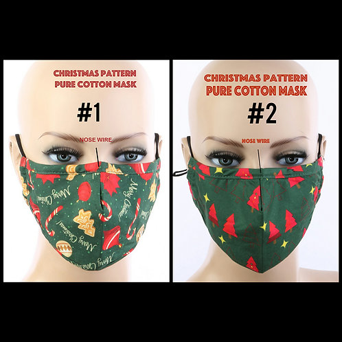 Christmas face  mask with filter pocket