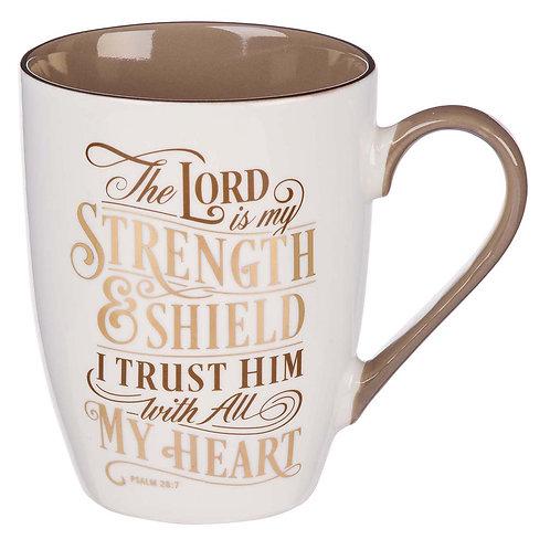 The Lord is my Strength ceramic mug
