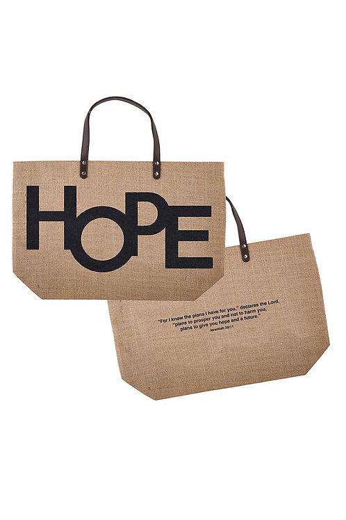 Hope Jute tote bag