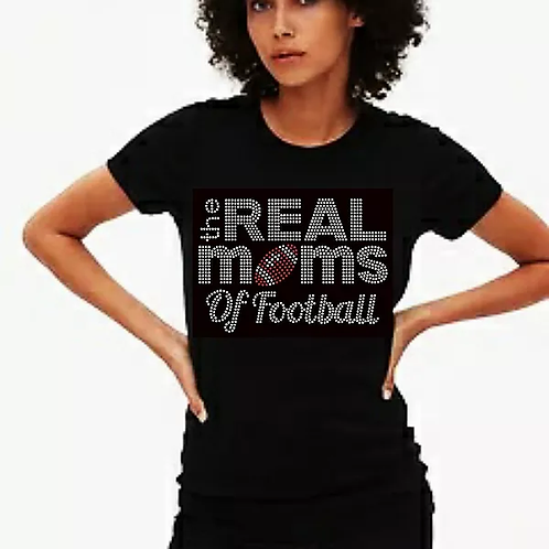 The Real Mom's of Football Bling Tee or Tote Bag