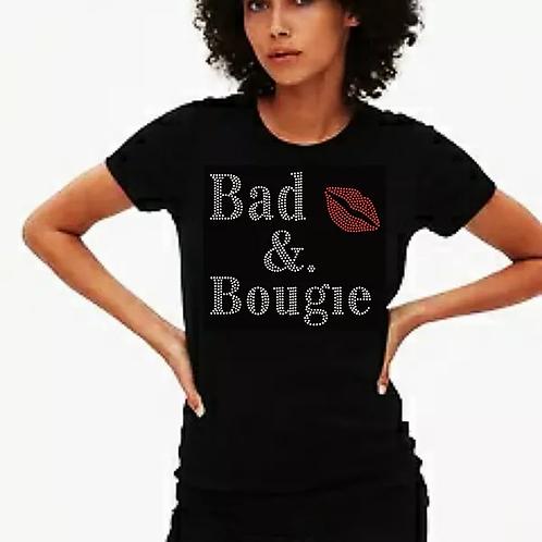 Bad & Bougie Bling Tee or Tote Bag