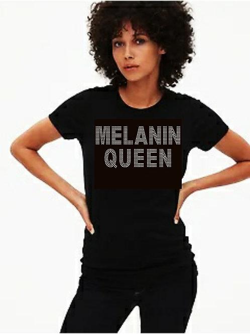 Melanin Queen bling tee or Tote bag