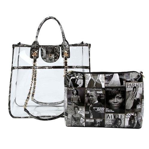 Michelle Obama Clear Tote Bag Set